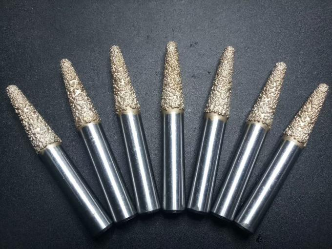 Conical Type Vacuum Brazed Diamond Tools CZ8.4-50 High Precision In Carving Work