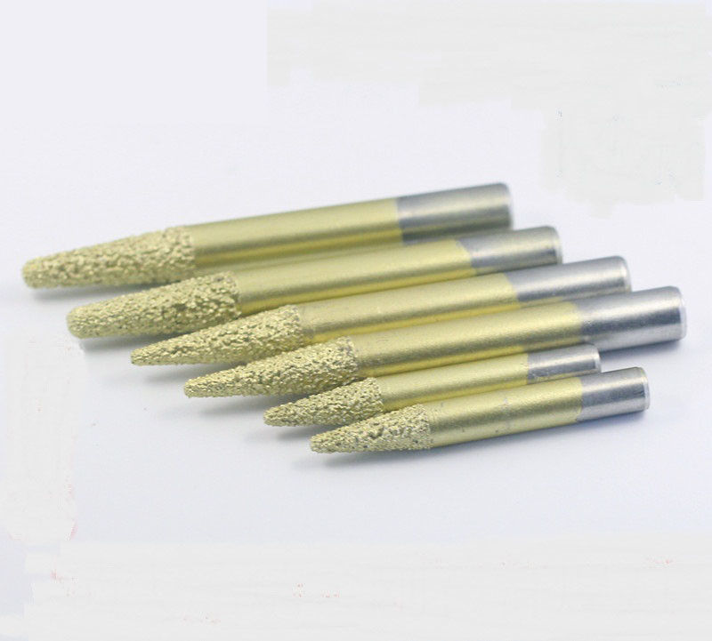 Compact Design Diamond Router Bits , Diamond Carving Tools Gold Color Appearance