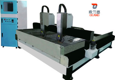 China Multifunctional CNC Router Machine , Marble Engraving Machine Double Head Design factory
